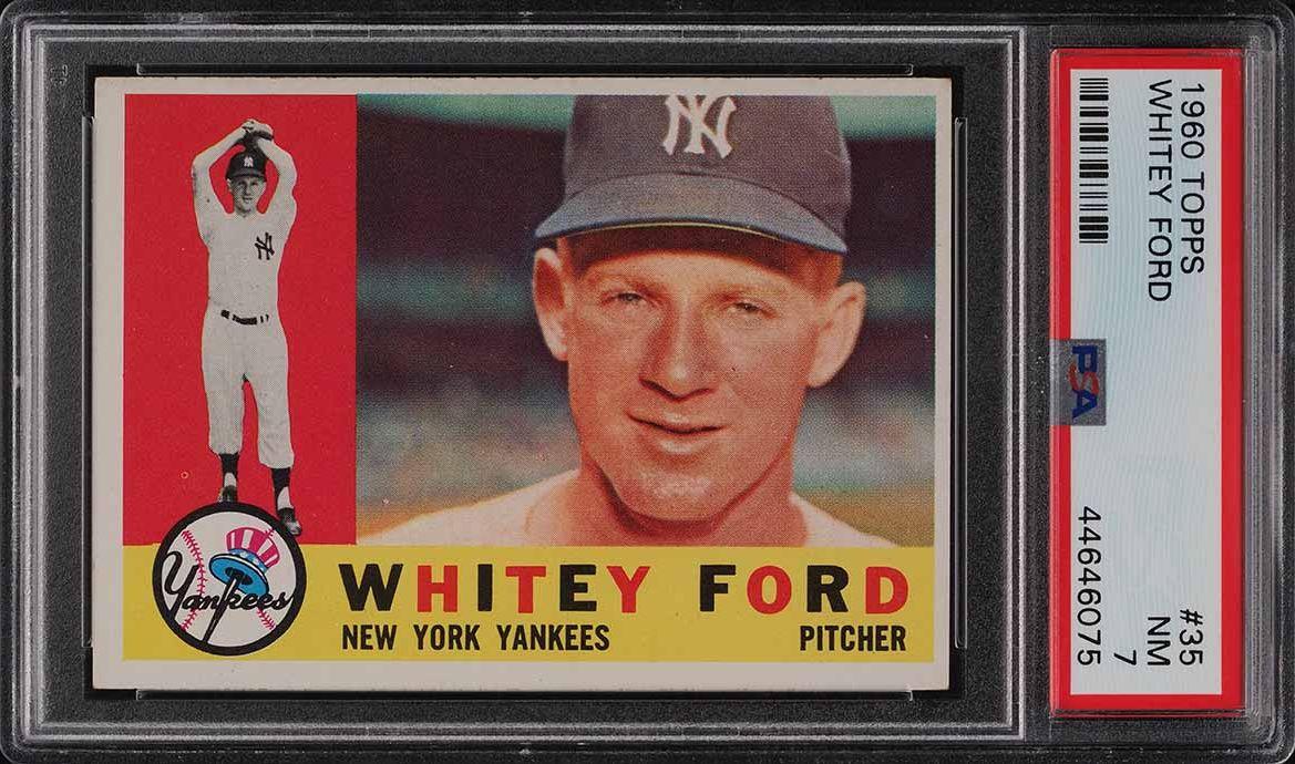 1960 Topps Whitey Ford #35 PSA 7 NRMT - Image 1