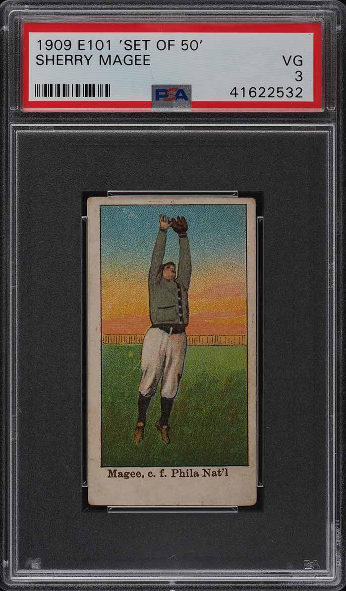1909 E101 Set Of 50 Sherry Magee PSA 3 VG - Image 1