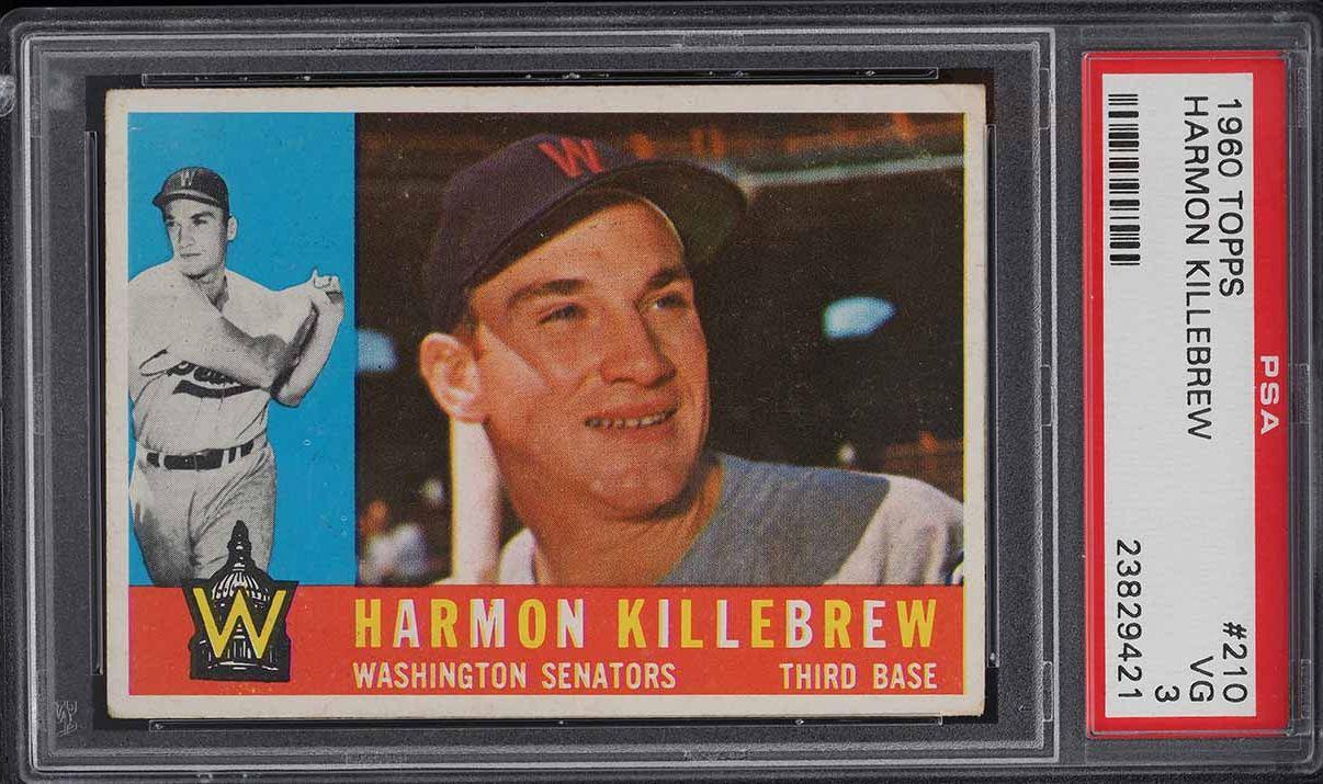 1960 Topps Harmon Killebrew #210 PSA 3 VG - Image 1