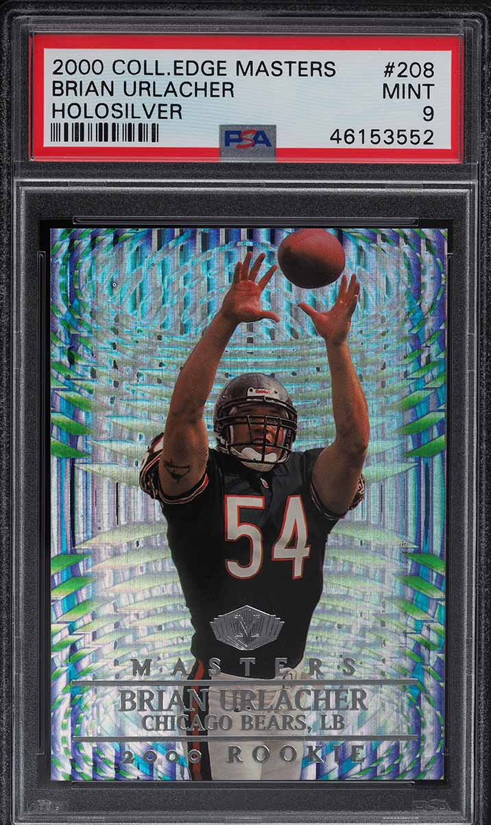 2000 Collector's Edge Masters Holosilver Brian Urlacher ROOKIE RC /1000 PSA 9 MT - Image 1