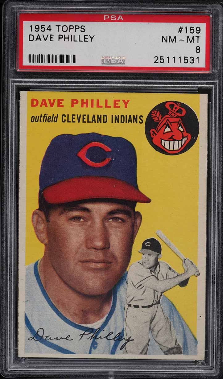 1954 Topps Dave Philley #159 PSA 8 NM-MT - Image 1