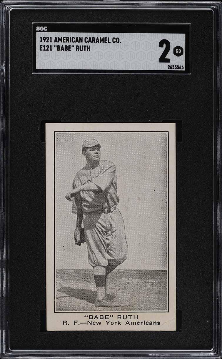 1921 E121 American Caramel Series Of 80 Babe Ruth SGC 2 GD (PWCC-E) - Image 1