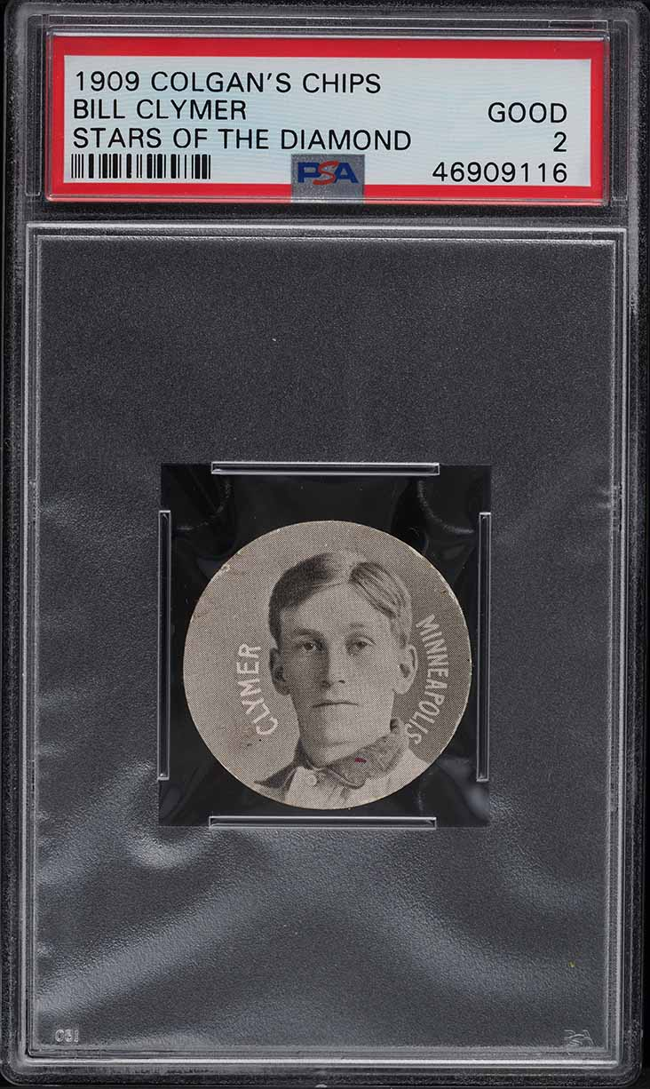 1909 Colgan's Chips Stars Of The Diamond Bill Clymer PSA 2 GD - Image 1