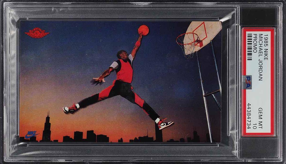 1985 Nike Promo Michael Jordan ROOKIE RC PSA 10 GEM MINT (PWCC) - Image 1
