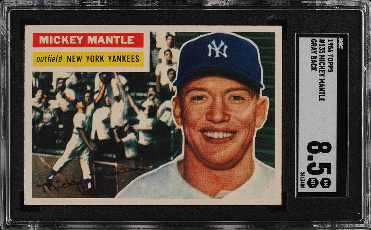 1956 Topps Mickey Mantle #135 SGC 8.5 NM-MT+ (PWCC-S) - Image 1