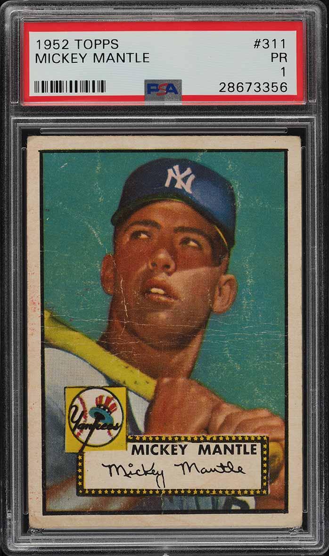 1952 Topps Mickey Mantle #311 PSA 1 PR (PWCC) - Image 1