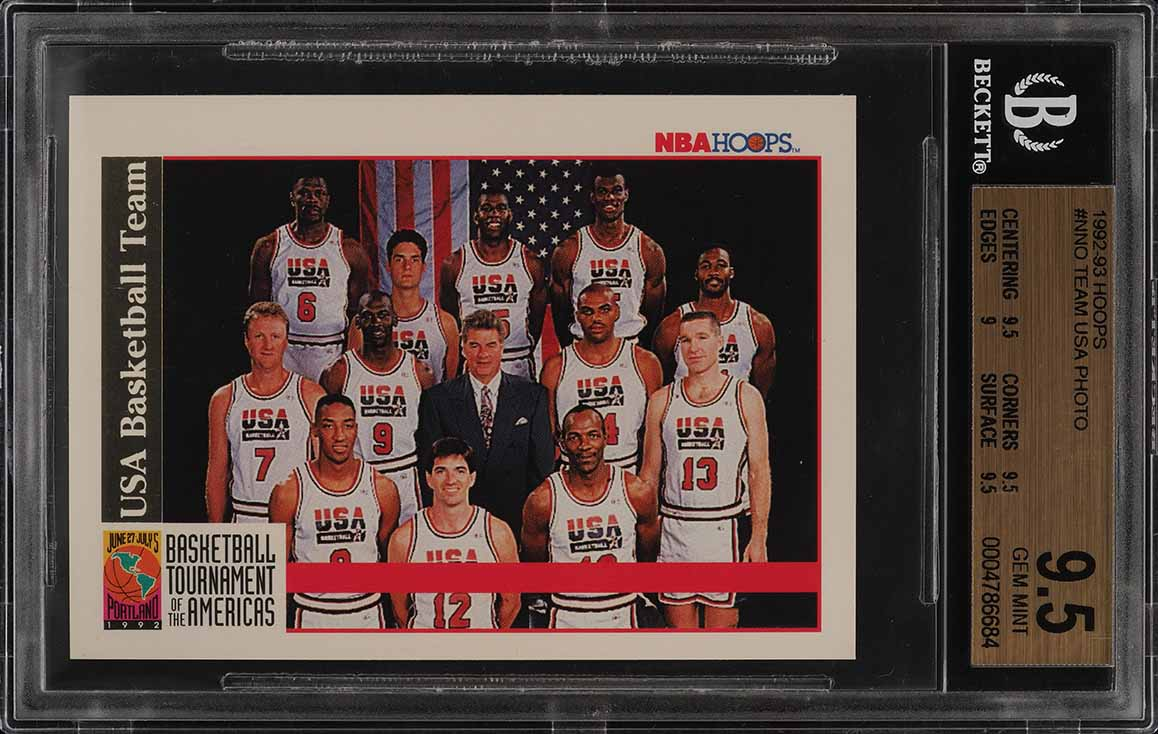 1992 Hoops Team USA w/ Michael Jordan #NNO BGS 9.5 GEM MINT (PWCC) - Image 1