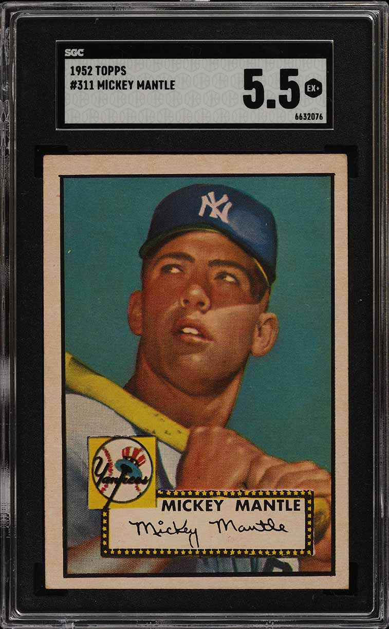 Image of: 1952 Topps Mickey Mantle #311 SGC 5.5 EX+ (PWCC)