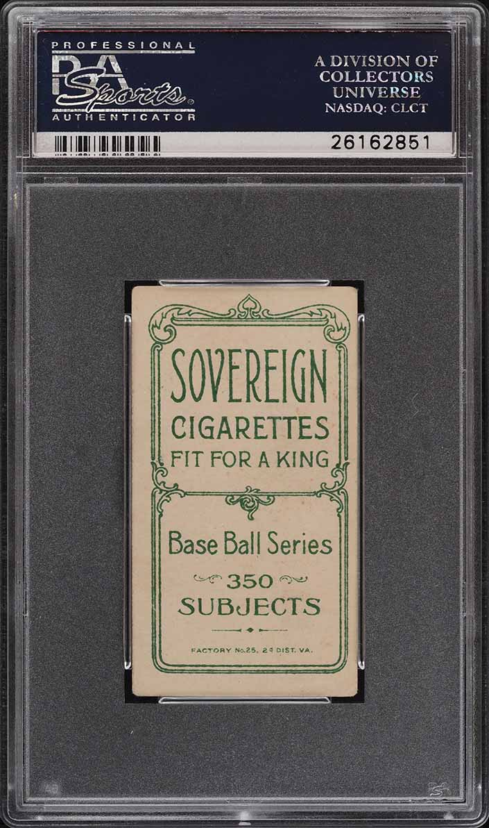 1909-11 T206 SETBREAK Harry Niles SOVEREIGN PSA 4 VGEX (PWCC) - Image 2