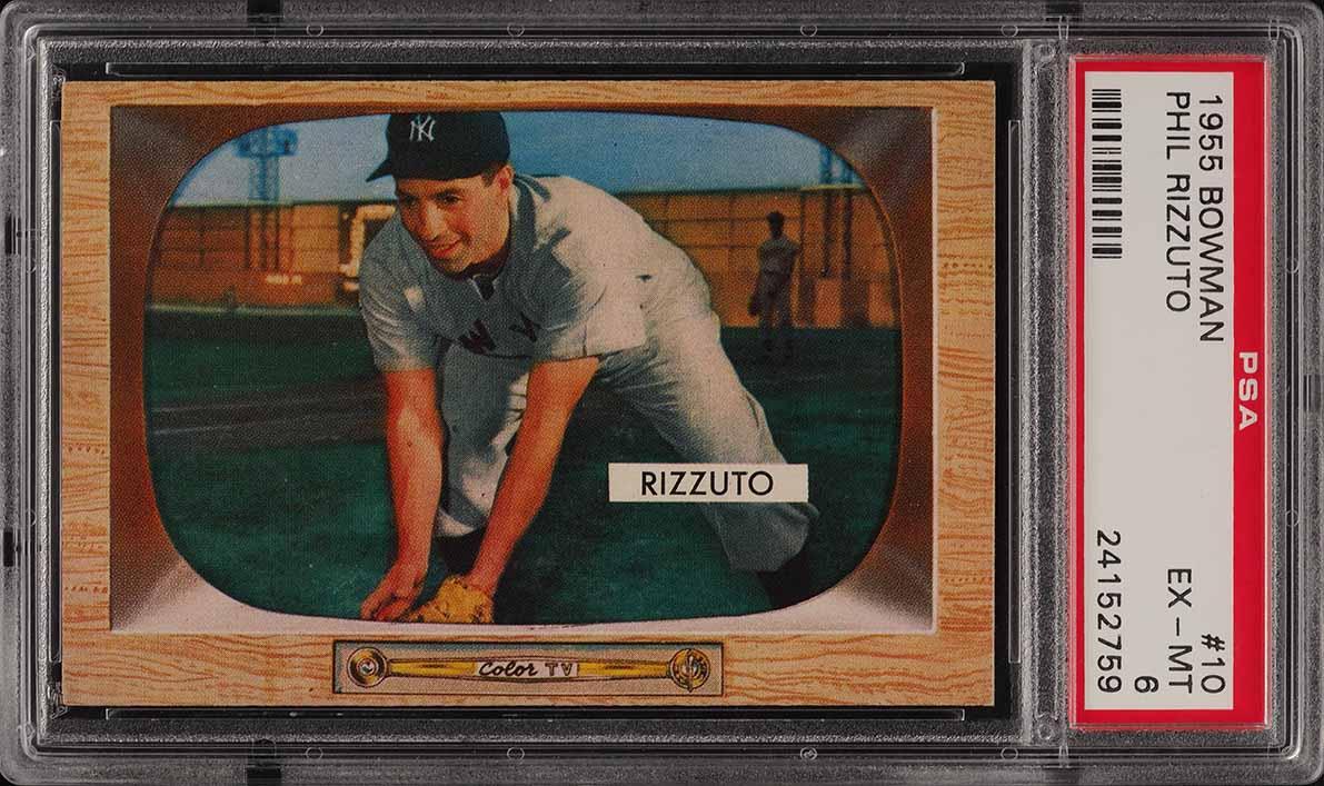 1955 Bowman Phil Rizzuto #10 PSA 6 EXMT (PWCC) - Image 1