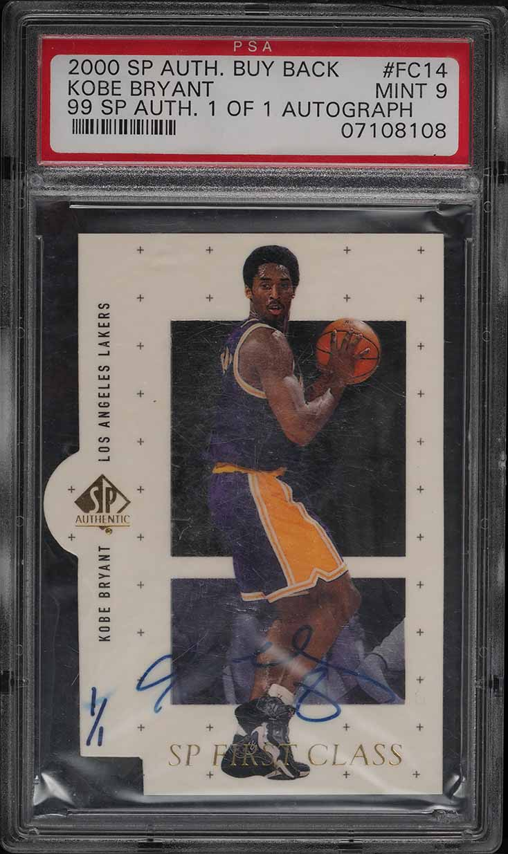 2000 SP Authentic Buyback '99 Kobe Bryant AUTO 1/1 #FC14 PSA 9 MINT - Image 1