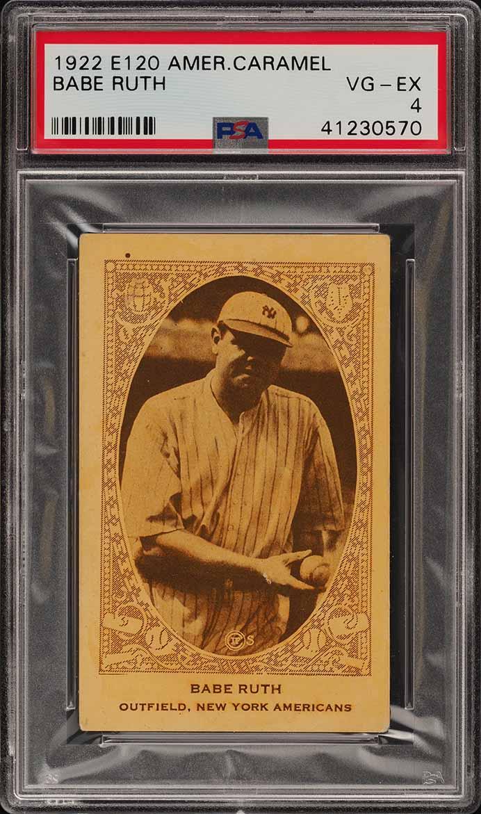 1922 E120 American Caramel Babe Ruth PSA 4 VGEX (PWCC-A) - Image 1
