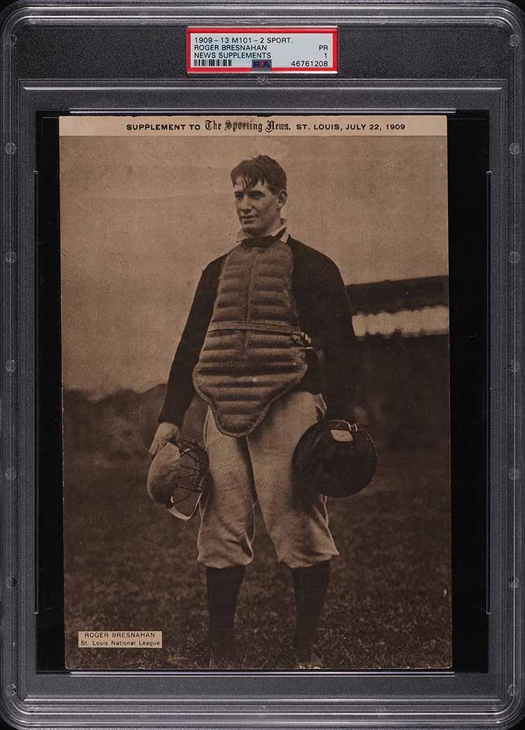 1909 M101-2 Sporting News Supplements Roger Bresnahan PSA 1 PR - Image 1