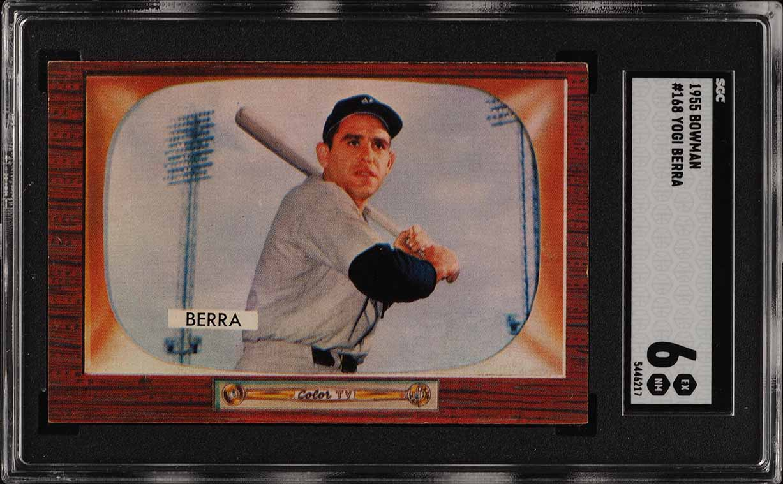 1955 Bowman Yogi Berra #168 SGC 6 EXMT (PWCC) - Image 1