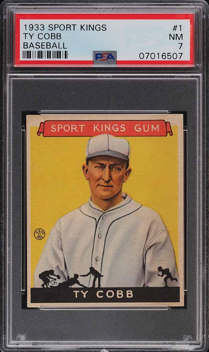 1933 Goudey Sport Kings Ty Cobb #1 PSA 7 NRMT - Image 1