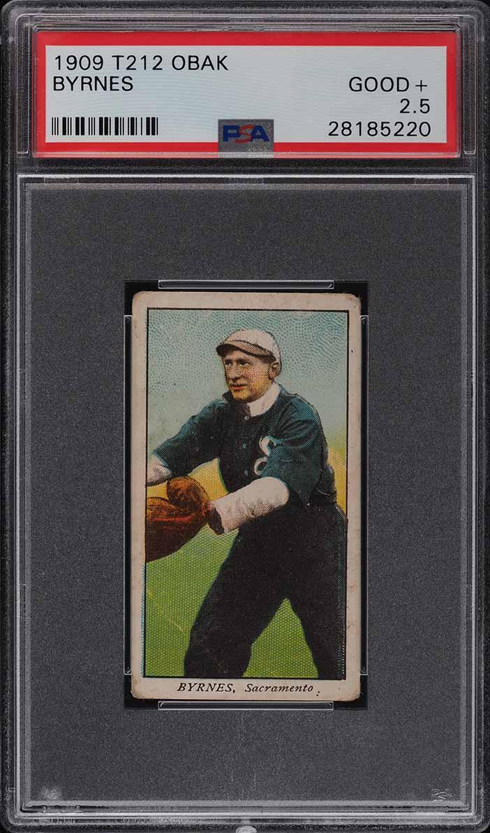 1909 T212 Obak Byrnes PSA 2.5 GD+ - Image 1