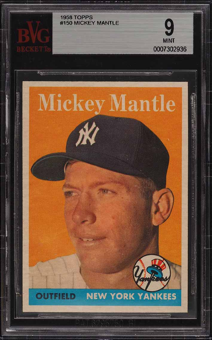 1958 Topps Mickey Mantle #150 BVG 9 MINT (PWCC) - Image 1