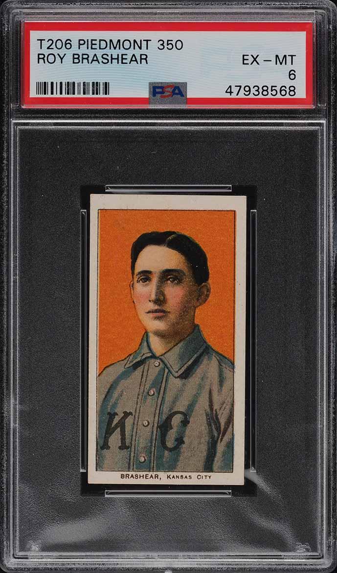 1909-11 T206 Roy Brashear PSA 6 EXMT - Image 1