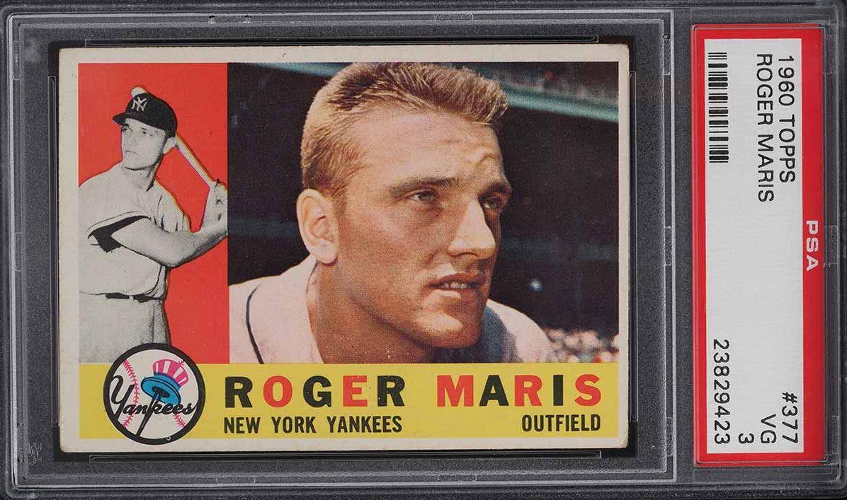 1960 Topps Roger Maris #377 PSA 3 VG - Image 1