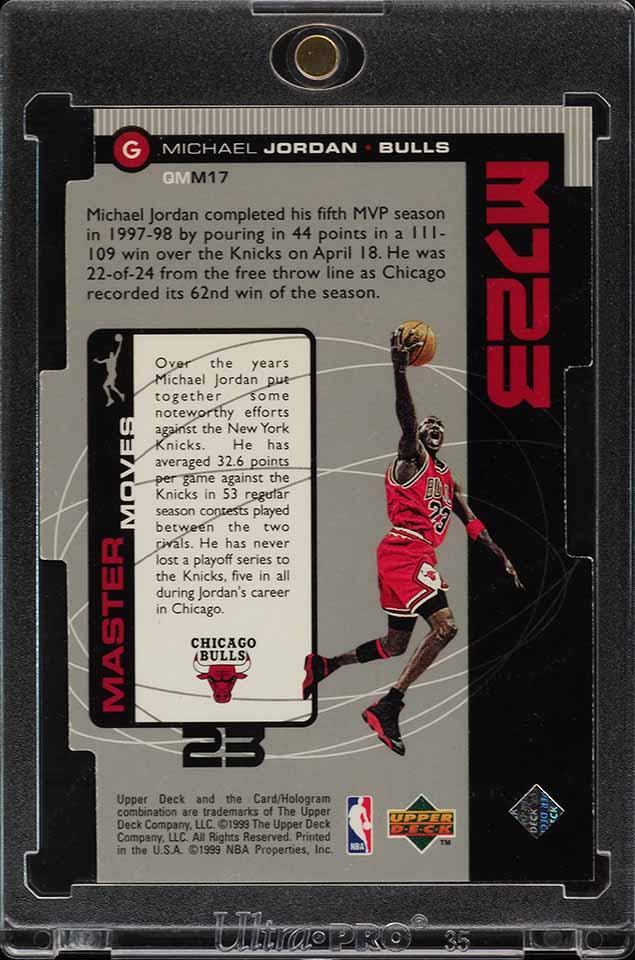 1998 Upper Deck MJ23 Quantum Silver Die-Cut Michael Jordan 1/23 #M17 (PWCC) - Image 2