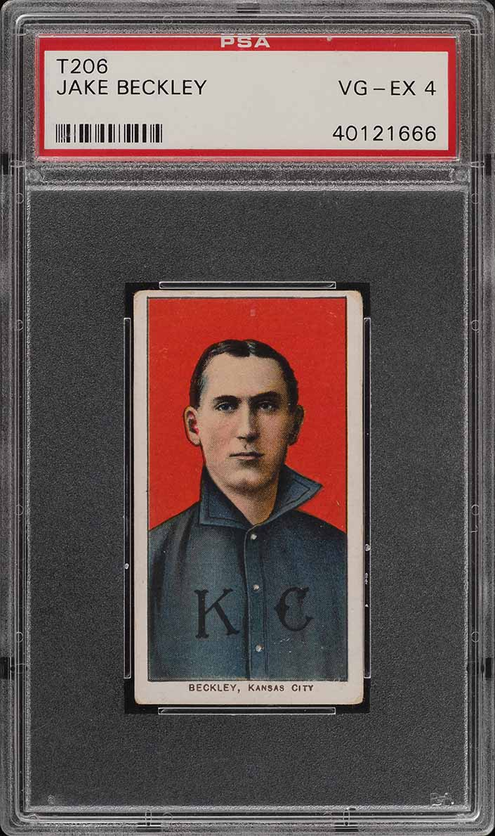 1909-11 T206 SETBREAK Jake Beckley PSA 4 VGEX (PWCC) - Image 1