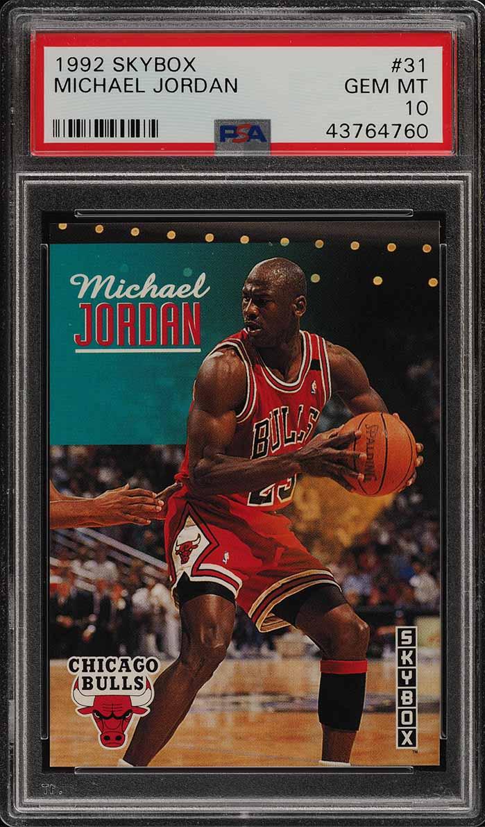 1992 Skybox Basketball Michael Jordan #31 PSA 10 GEM MINT (PWCC) - Image 1