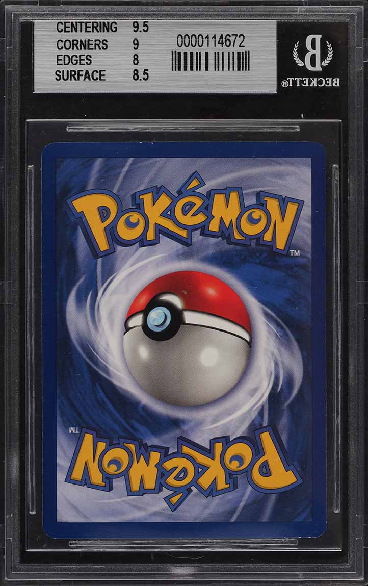 1999 Pokemon Game 1st Edition Holo Charizard #4 BGS 8.5 NM-MT+ - Image 2