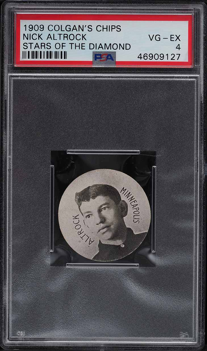 1909 Colgan's Chips Stars Of The Diamond Nick Altrock PSA 4 VGEX - Image 1