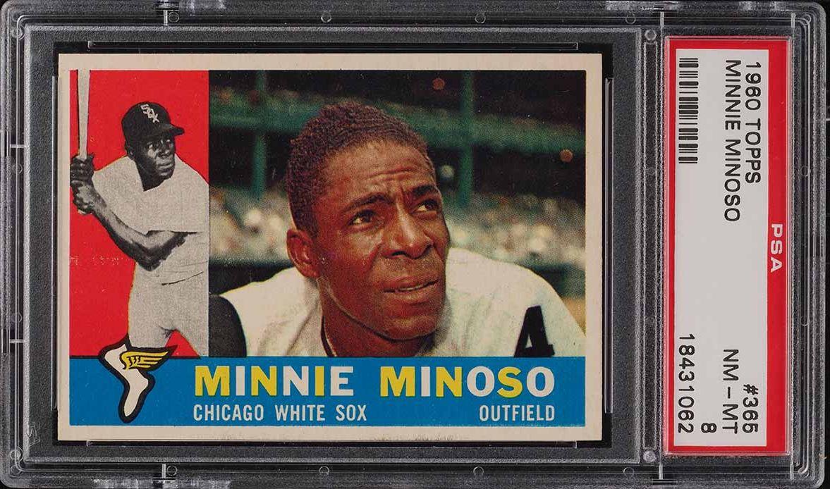 1960 Topps Minnie Minoso #365 PSA 8 NM-MT - Image 1