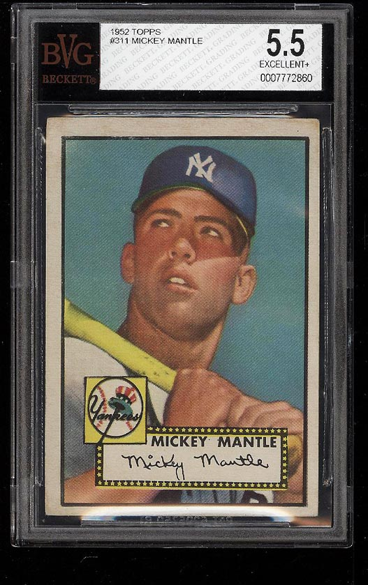1952 Topps Mickey Mantle #311 BVG 5.5 EX+ (PWCC) - Image 1