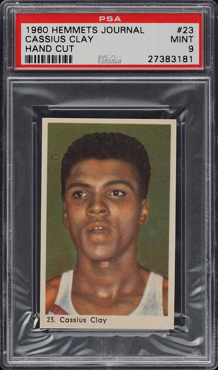 1960 Hemmets Journal Boxing Cassius Clay Muhammad Ali ROOKIE RC PSA 9 MT (PWCC) - Image 1