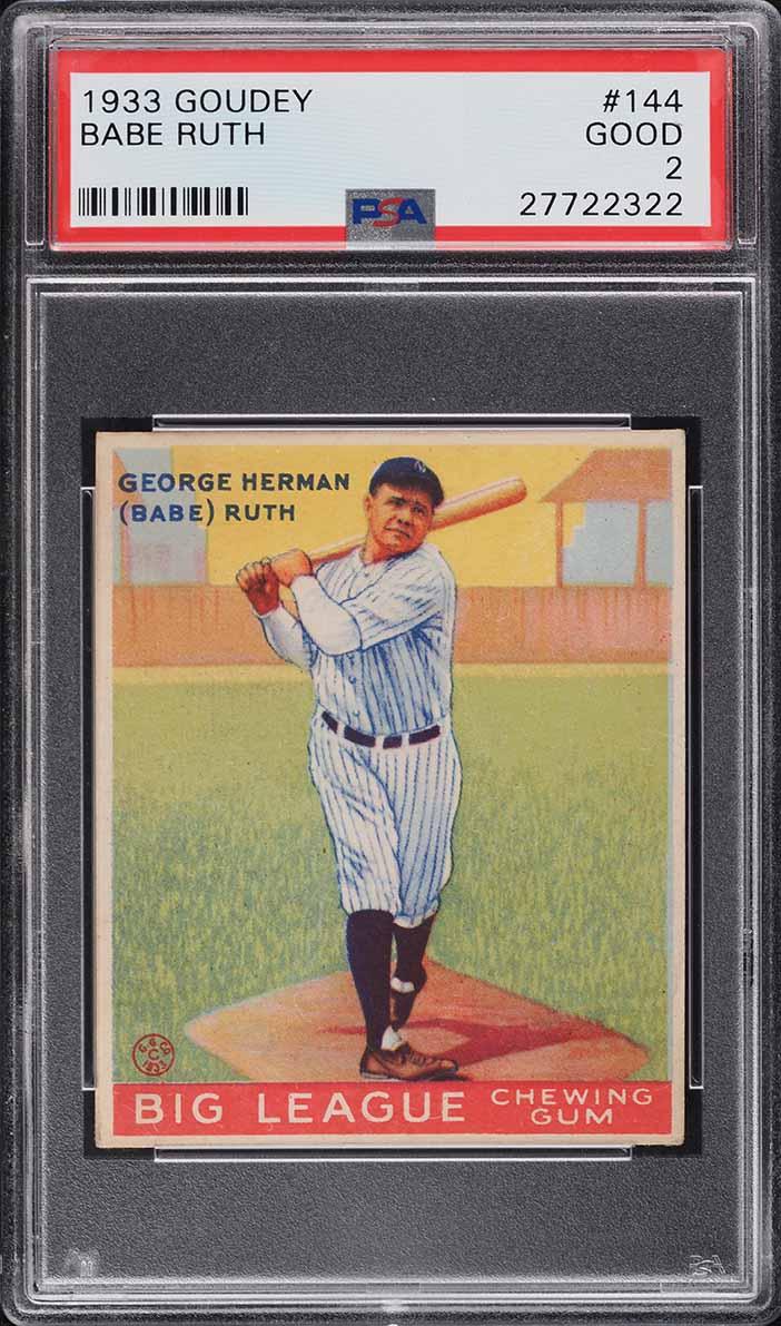 1933 Goudey Babe Ruth #144 PSA 2 GD (PWCC-S) - Image 1