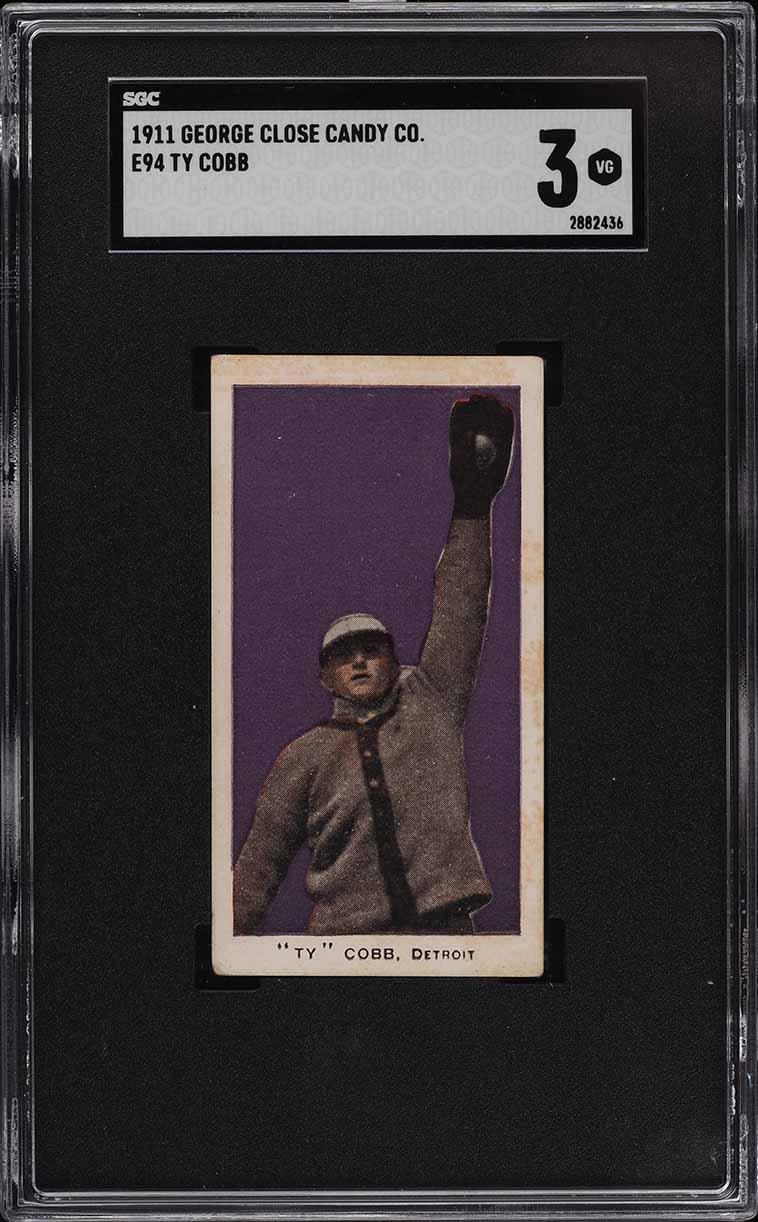 1911 E94 George Close Candy Purple Ty Cobb SGC 3 VG (PWCC-A) - Image 1