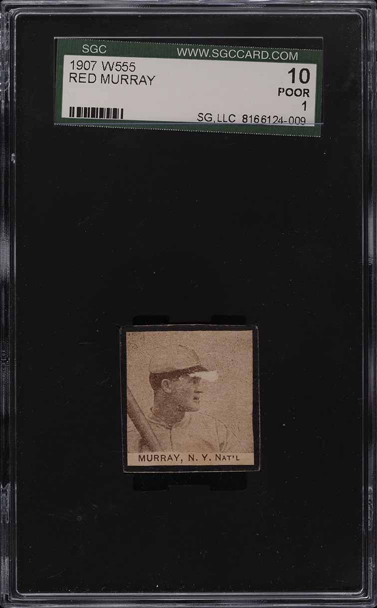 1907 W555 Red Murray SGC 1 PR - Image 1