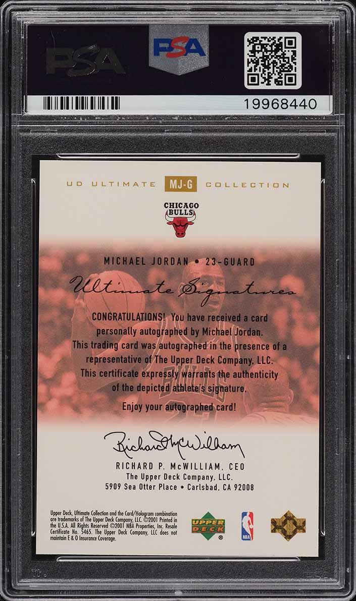 2000 Ultimate Collection Gold Michael Jordan PSA/DNA AUTO /25 PSA 10 GEM MINT - Image 2