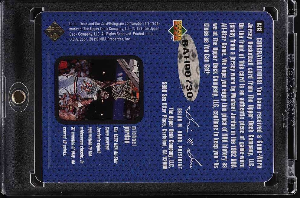1997-98 Upper Deck Game Jersey Michael Jordan AUTO PATCH #GJ13, UDA COA - Image 2