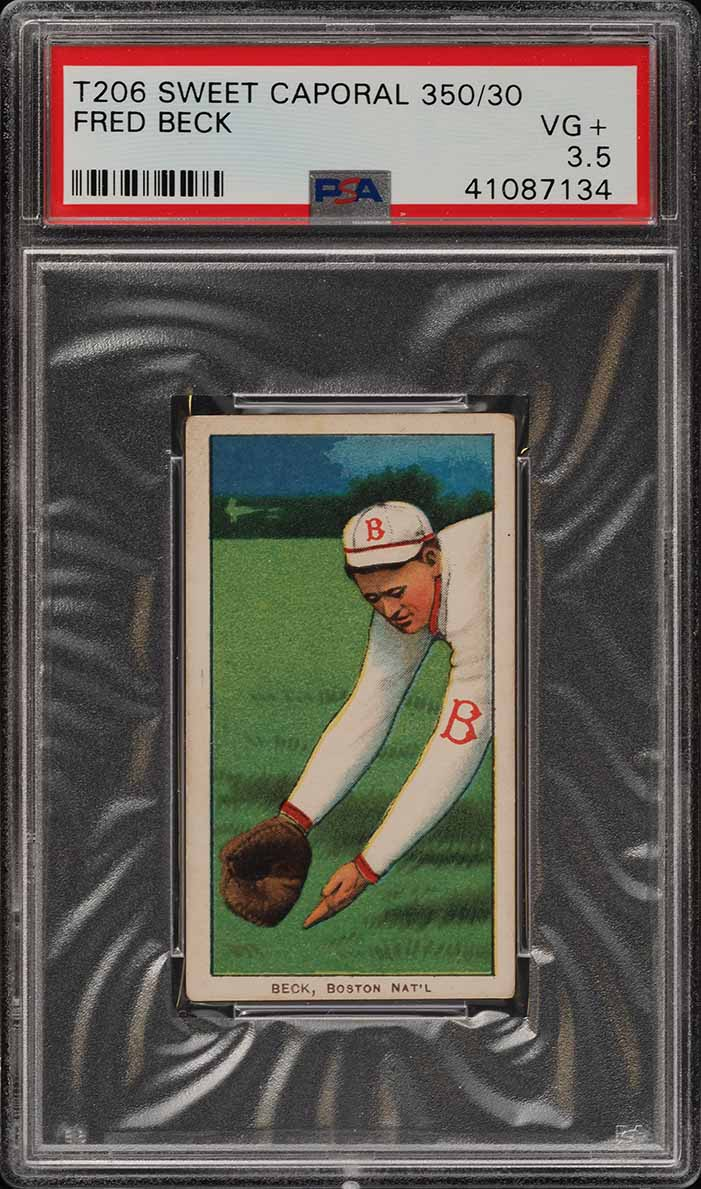 1909-11 T206 Fred Beck PSA 3.5 VG+ (PWCC) - Image 1