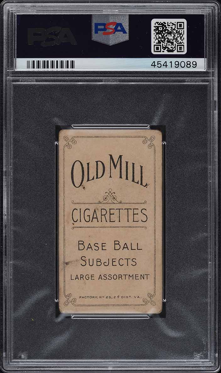 1909-11 T206 Johnny Evers WITH BAT CHICAGO ON SHIRT, OLD MILL PSA 2 GD (PWCC) - Image 2