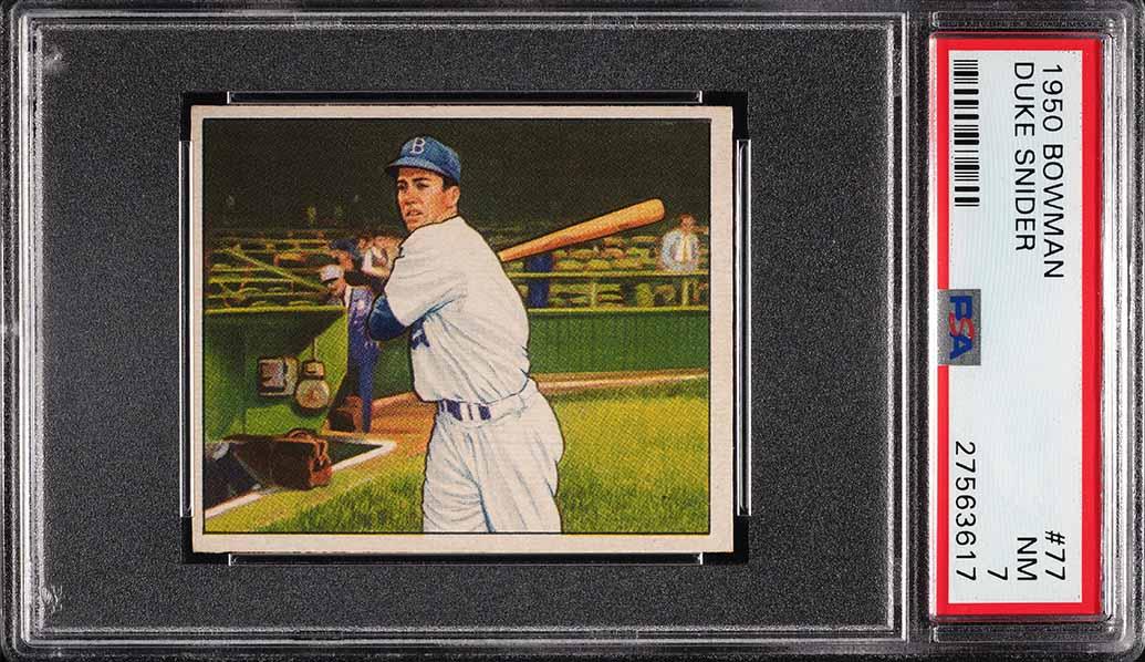 1950 Bowman Duke Snider #77 PSA 7 NRMT (PWCC) - Image 1
