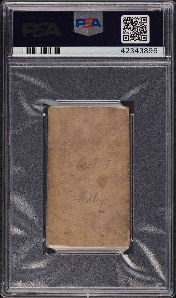 1887 N172 Old Judge Mickey Welch PITCH, HANDS ABOVE WAIST PSA 1(mk) PR - Image 2