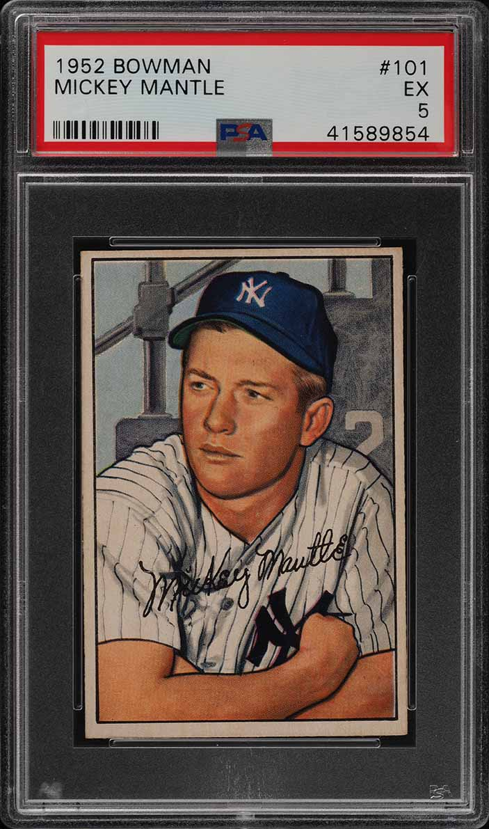 1952 Bowman Mickey Mantle #101 PSA 5 EX (PWCC-E) - Image 1