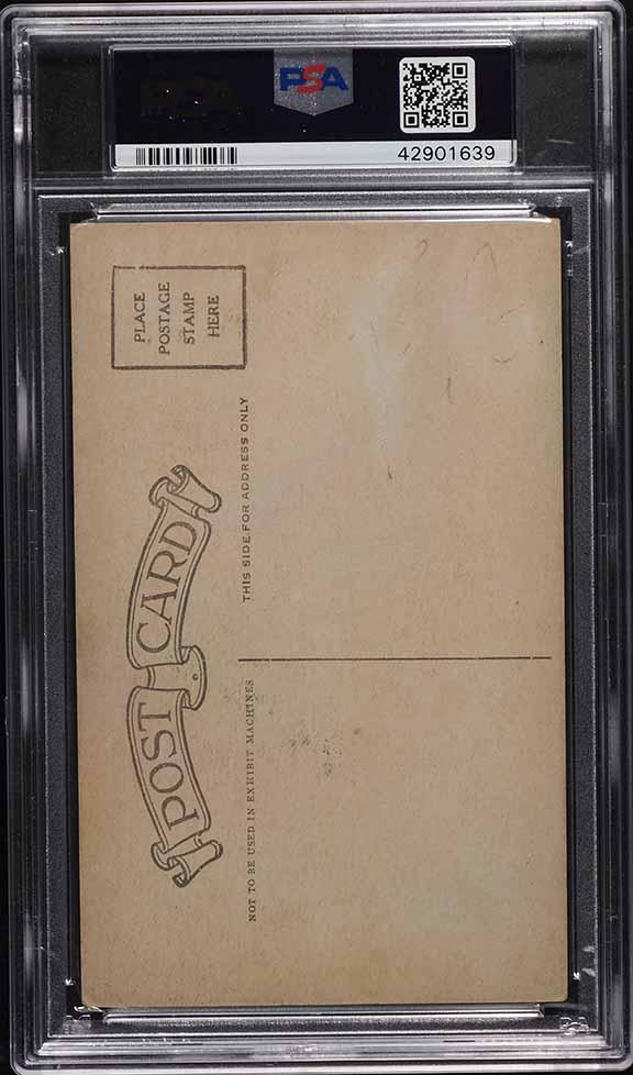 1926 Exhibits Tris Speaker POSTCARD BACK PSA 3(mk) VG - Image 2