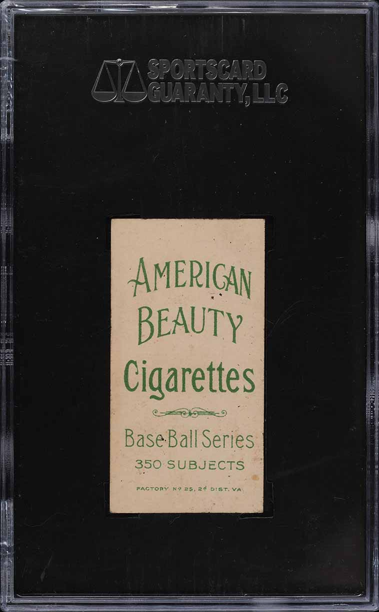 1909-11 T206 Chief Bender PITCHING, NO TREES AMERICAN BEAUTY NO FRAME SGC 5 EX - Image 2