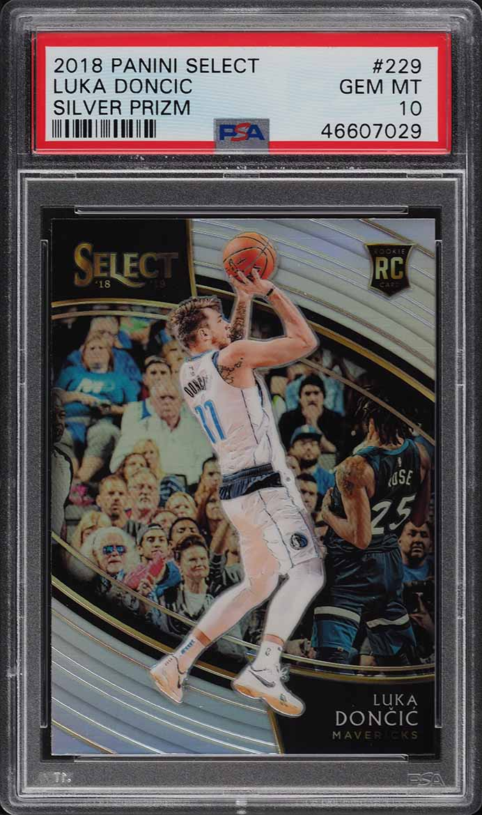 2018 Select Silver Prizm Courtside Luka Doncic ROOKIE RC #229 PSA 10 GEM (PWCC) - Image 1