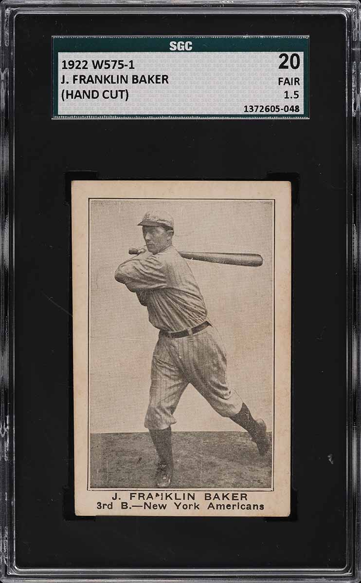 1922 W575-1 Strip Card Home Run Baker SGC 1.5 FR (PWCC-E) - Image 1