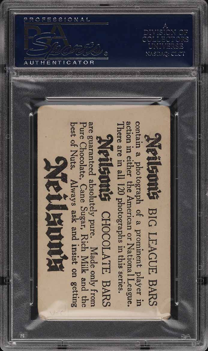 1922 Neilson's Chocolate Type I Carl Mays #7 PSA 2 GD - Image 2
