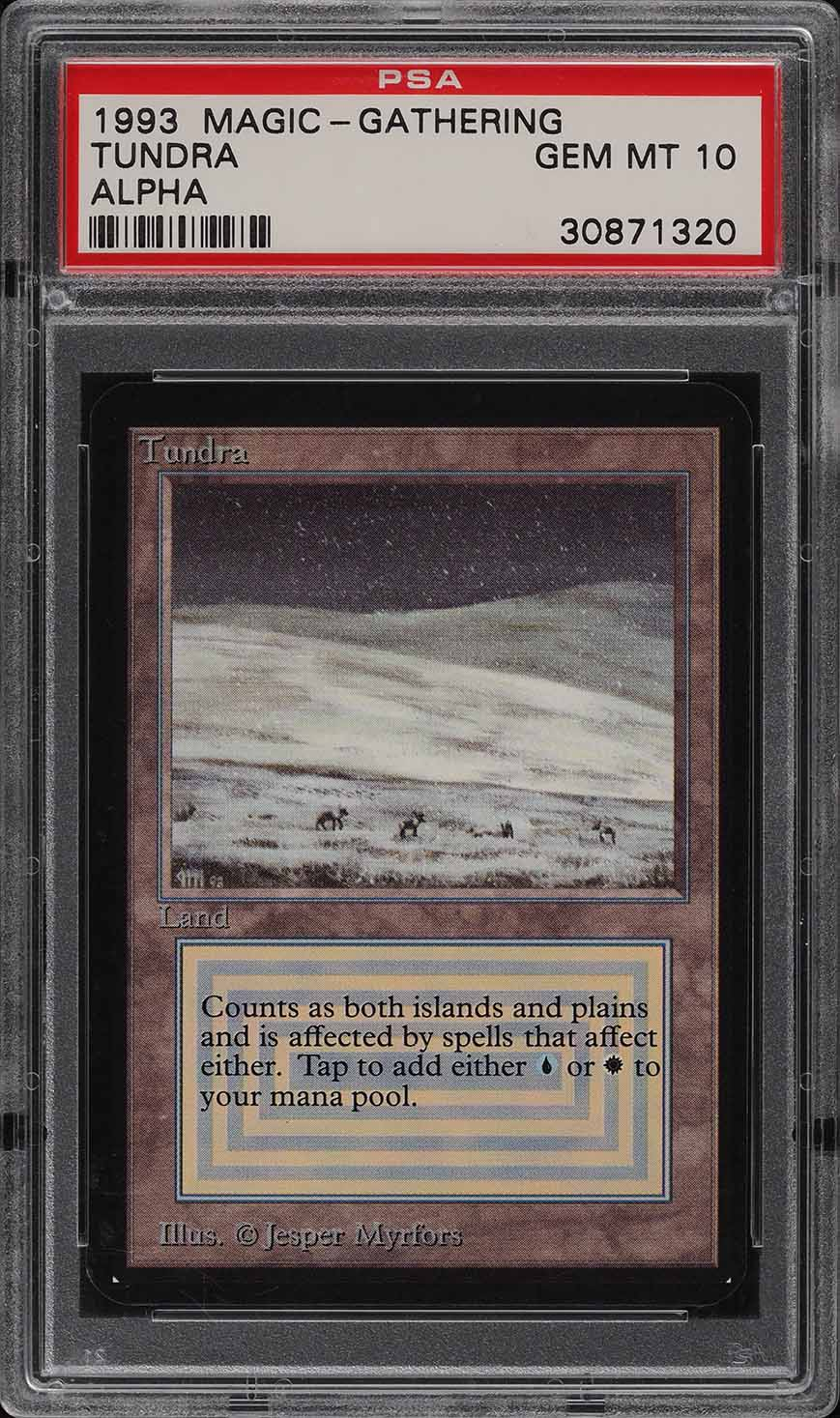 1993 Magic The Gathering MTG Alpha Dual Land Tundra R L PSA 10 GEM MINT (PWCC) - Image 1