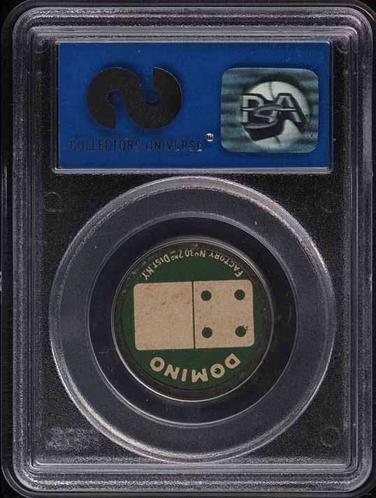 1909 Sweet Caporal Domino Discs Ira Thomas PSA 8 NM-MT - Image 2
