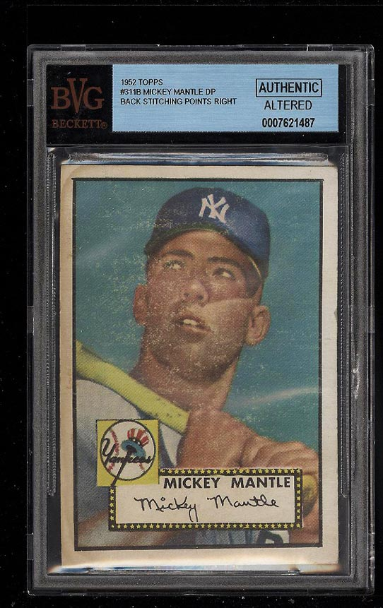 1952 Topps Mickey Mantle #311 BVG Altered (PWCC) - Image 1