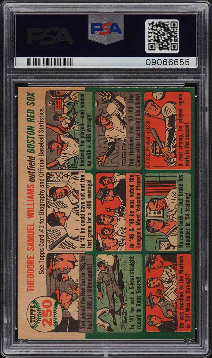 1954 Topps Ted Williams #250 PSA 9 MINT (PWCC) - Image 2